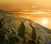 Sunset in a mountains — Stock Photo
