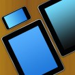 Stock Photo: Tablet pc background