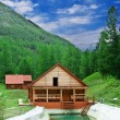 Stock Photo: House on river