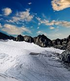 Glacier in a mountains — Stock Photo