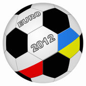 Stylized euro football background — Stock Photo