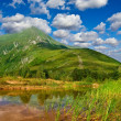 Stock Photo: Small lake near mountain foot