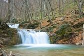 Cascades on a canyon river by a spring — Stock Photo