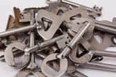 Högen av stål nycklar — Stockfoto