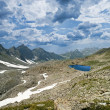 Stock Photo: Blue lake in mountain plateau
