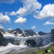 Gletscher in den Bergen — Stockfoto