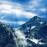 glaciar en las montañas — Foto de Stock
