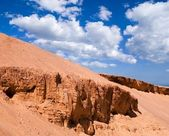Red sandy mountains — Stock Photo