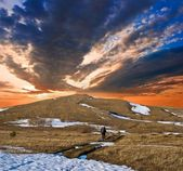 Evening in a mountains — Stock Photo