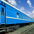 Blue train - Stock Photo
