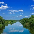 Beautiful summer river leaving far — Stock Photo