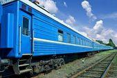 Blue train — Stockfoto