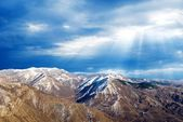 Light above mountains — Stock Photo