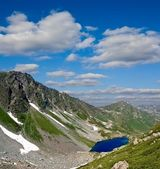 Small blue lake in a mountains — Stock Photo