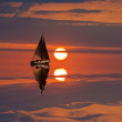 Sail yacht at the evening — Stock Photo #8951732