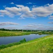 Rural river landscape - Stock Photo