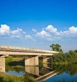 Ponte de pedra sobre um rio — Fotografia Stock