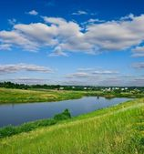 Rural river landscape — Stock Photo