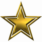 Gold star isolated on a white background — Stock Photo