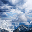 Stock Photo: Snowbound mountains peak