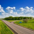 Asphalt road to far away — Stock Photo