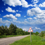 Asphalt road turn — Stock Photo
