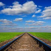 Railway leaving far — Stock Photo