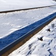 Stock Photo: Snowbound railway