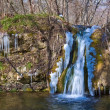 Beautiful spring waterfall — Stock Photo