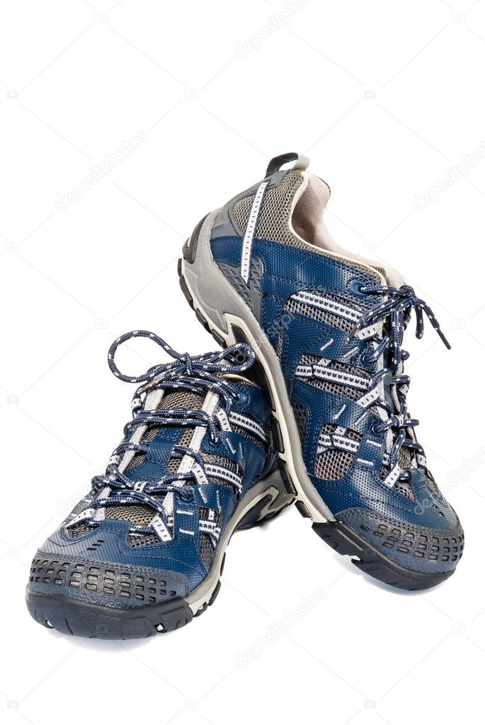 Pair of jogging shoe on a white background — Stock Photo #9585333