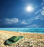 Beach slipper — Stock Photo