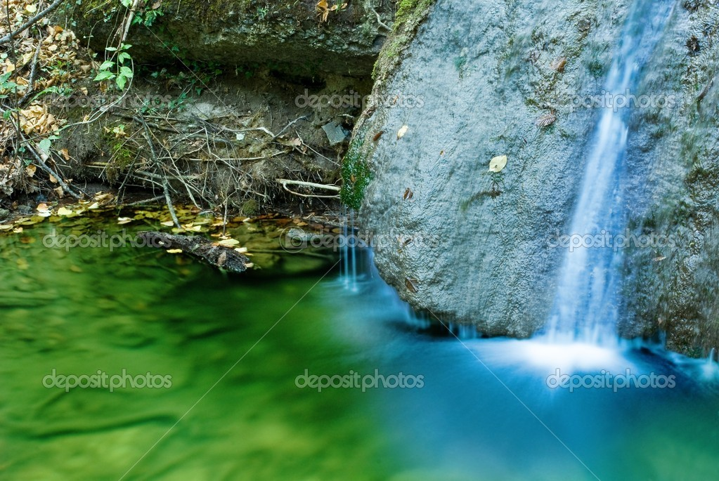 Closeup waterfall — Stock Photo #9624055