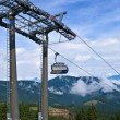 Stock Photo: Cableway in mountains