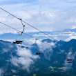 Cableway in a mountains — Stock Photo