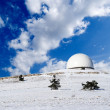 Stock Photo: Mountain astronomic observatory in winter