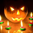 Halloween lantern — Stock Photo #9642795