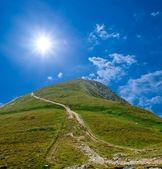 Beautiful green hill — Stock Photo