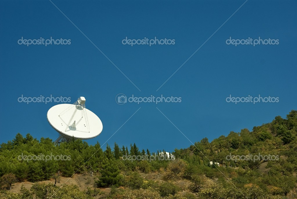 Astronomic observatory in mountains — Stock Photo #9641184