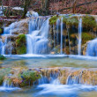 Cascades on a mountain river — Stock Photo