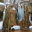 Waterfall in icicles — Stock Photo
