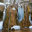 Stock Photo: Waterfall in icicles