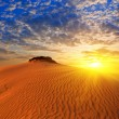 Dramatic sunset in sand desert — Stock Photo #9703063