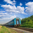 Blue train — Stock Photo