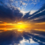 Dramatic sunset over a lake — Stock Photo #9798333
