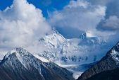 Beluha mountain in a clouds — Stock Photo