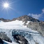 glaciar en una montaña — Foto de Stock