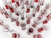 Blood tubes isolated — Stock Photo