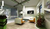 Modern interior reception — Stock Photo