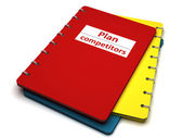 Book with the inscription plan competition — Stock Photo