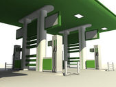 Gas station 3d — Stock Photo